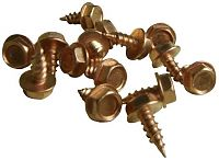 Copper Stain Zip Screws