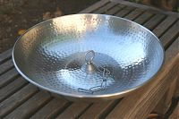 Hand Hammered Aluminum Dish with Hook