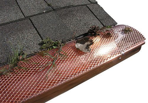 HR Hinged Gutter Screens - Copper In Action, Half Round Gutters,Gutter Screens