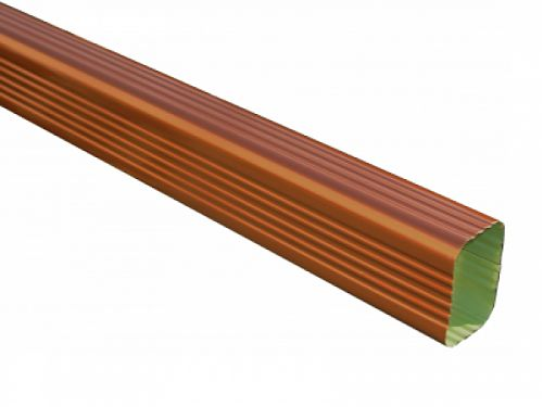 Copper Penny Rectangular Downspout