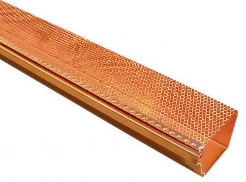 K Style Drop-In Gutter Screens - Copper