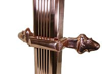 Copper Downspout Strap with Downspout