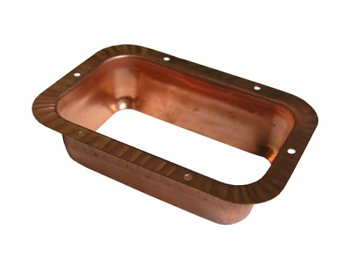 3x4 Rectangular Outlet Wide Flange - Copper