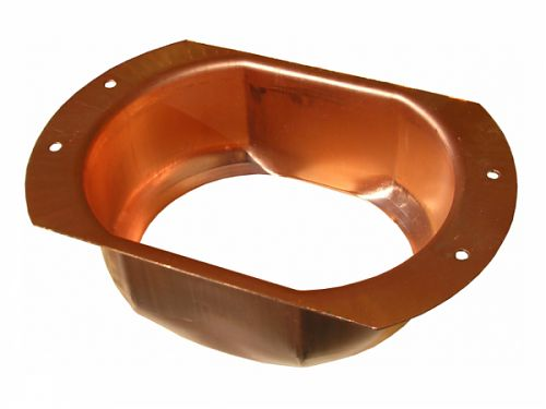K Style Oval Outlet - Wide Flange - copper