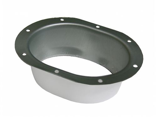K Style Oval Outlet - Wide Flange - aluminum