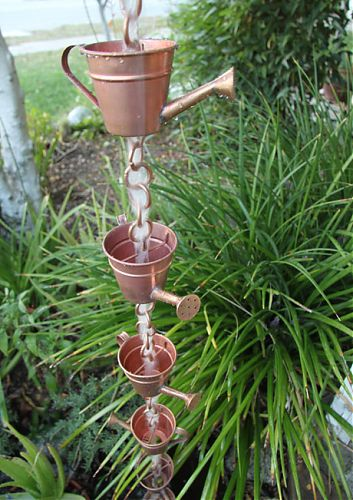 Watering Can Cups Rain Chain | Copper Rain Chain