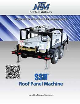 SSH Roof Panel Machine Brochure. Click Here To View Brochure