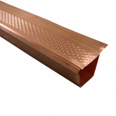 Copper Gutter Leaf Guards