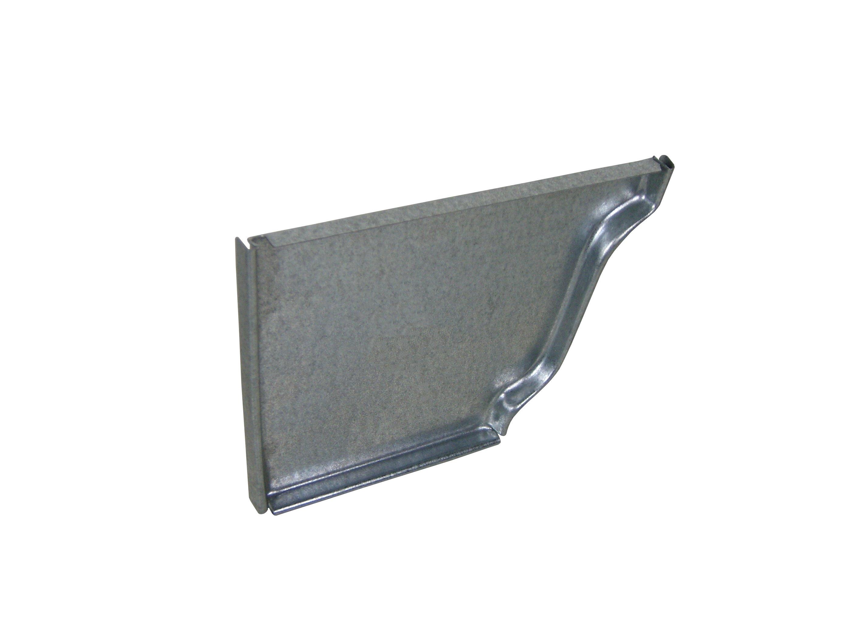 Galvanized steel end caps k style half round gutter