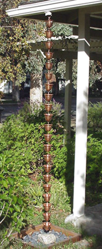 Click For A Larger View Copper Bells Rain Chain Copper
