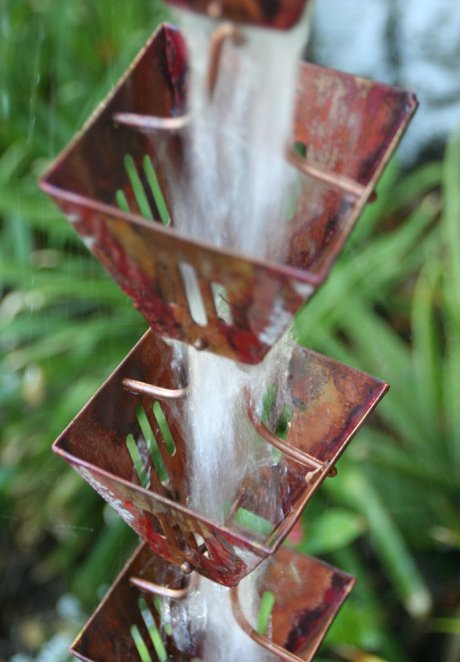 Click For A Larger View Xl Slotted Square Cups Rain Chain