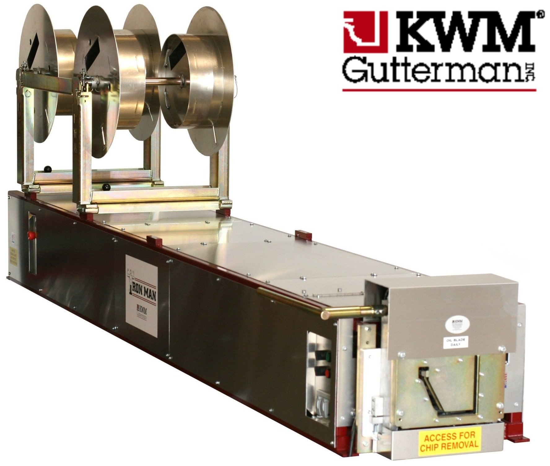 Click For A Larger View 7 K Ironman Gutter Machine