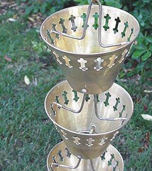 Brass Cups Rain Chain