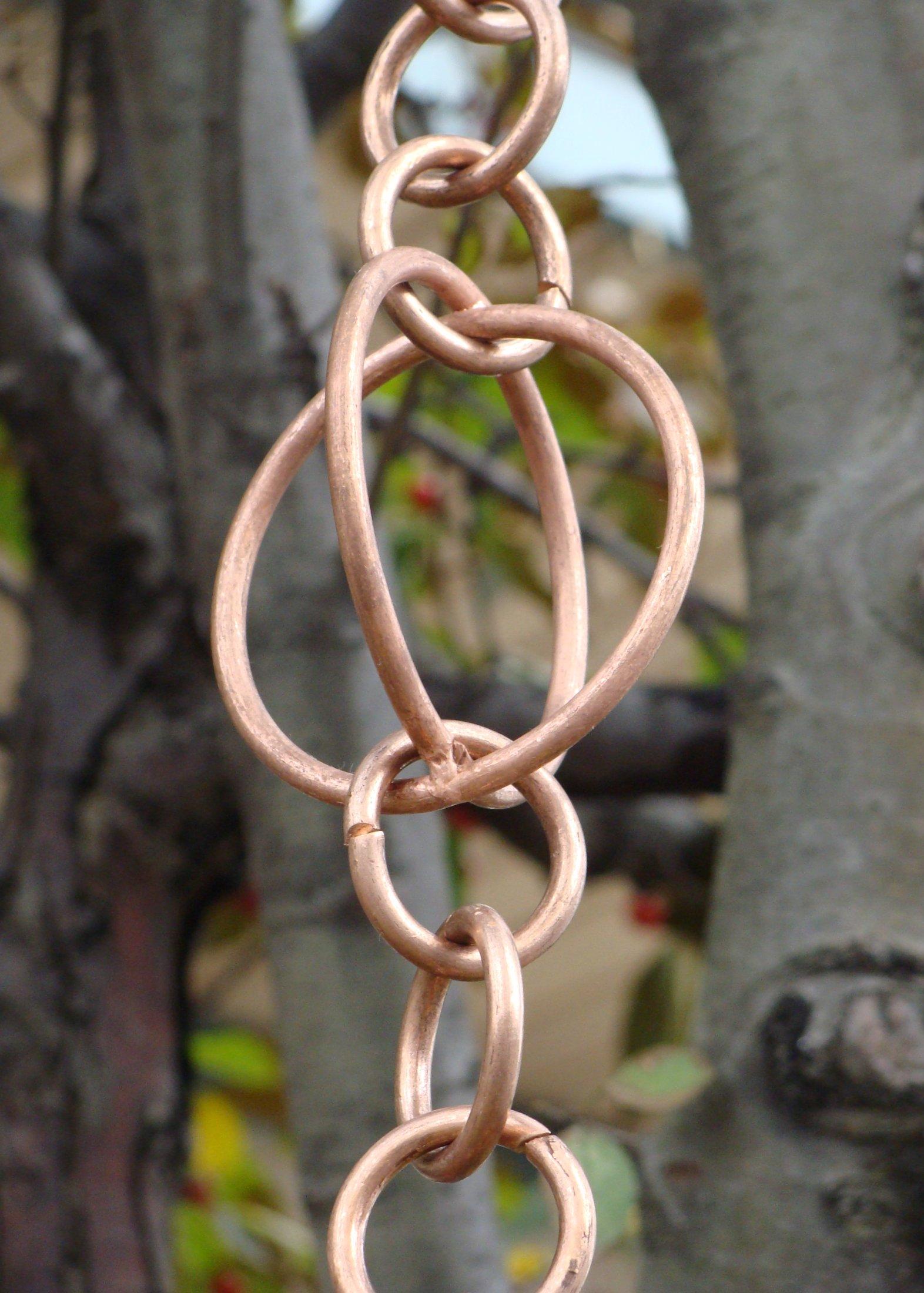 Large Circle Loop Rain Chain | Copper Rain Chain