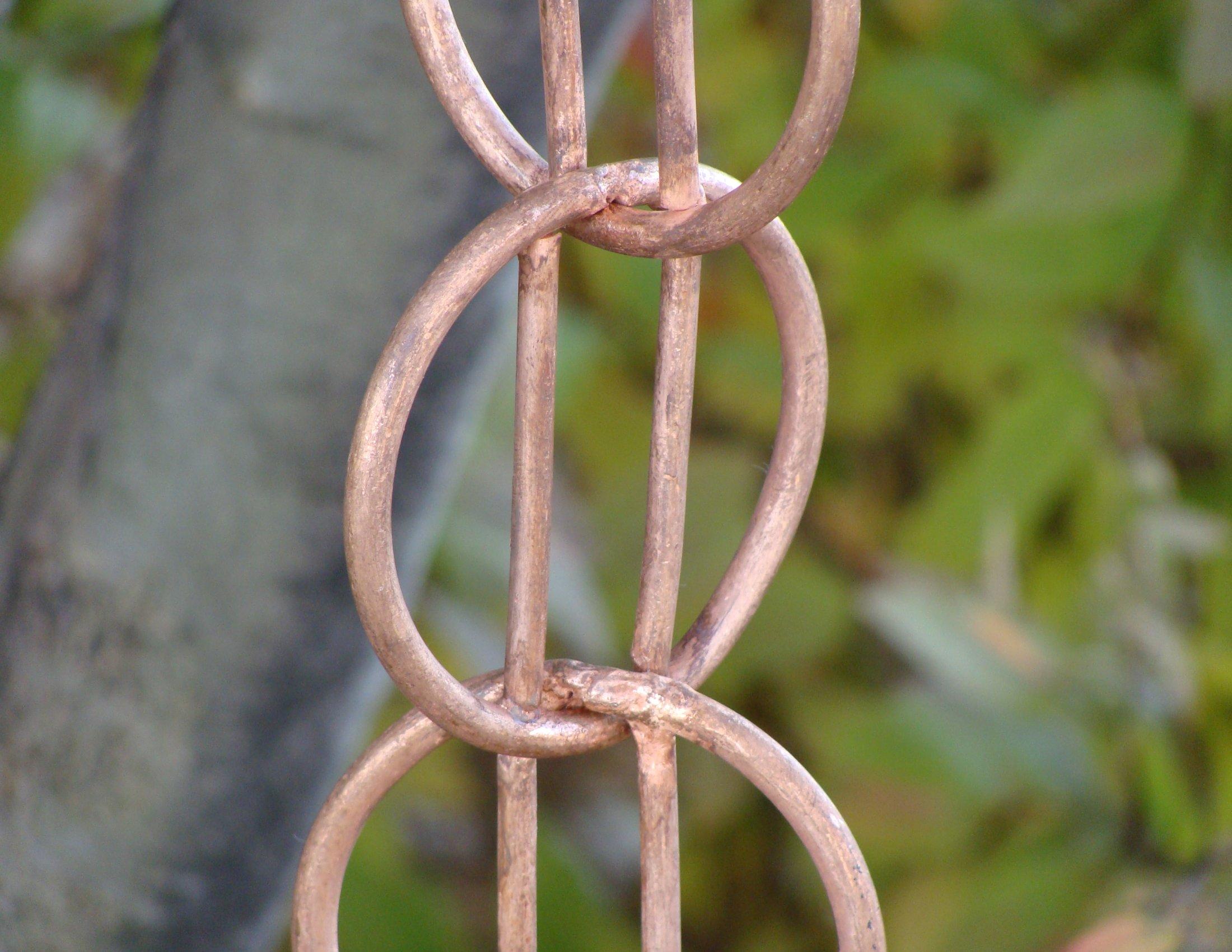 Click For A Larger View Zen Loops Rain Chain Copper Rain Chain
