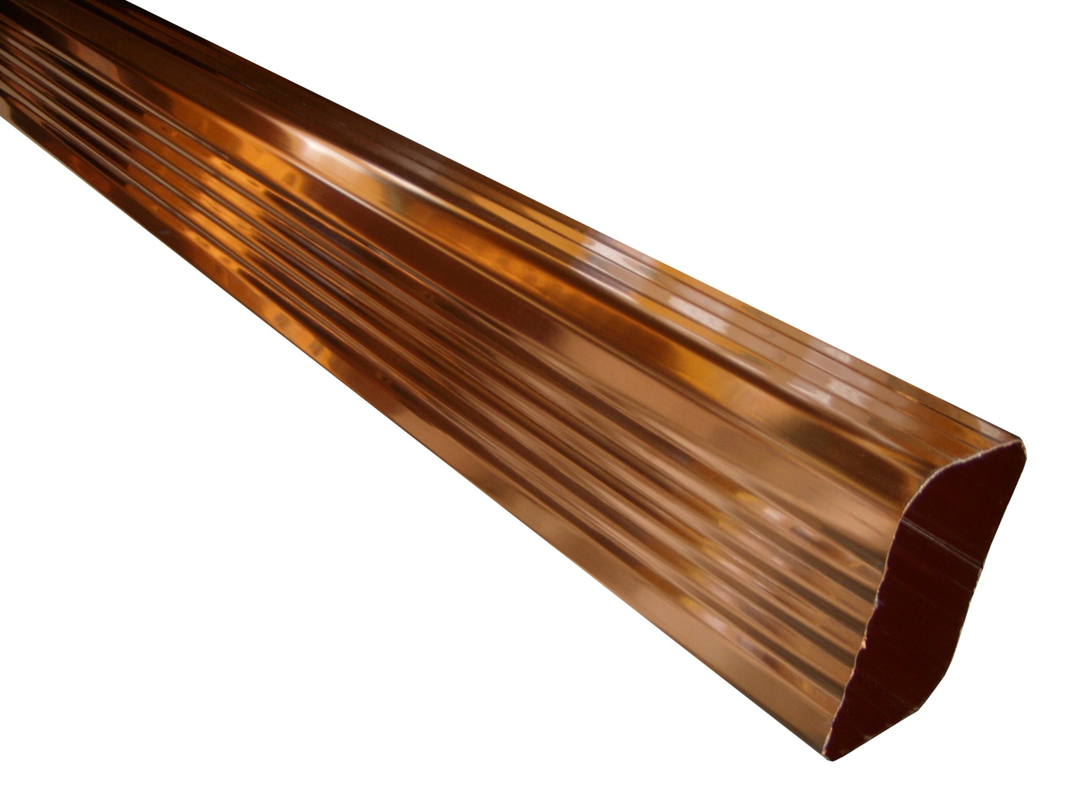 Rectangular Copper Downspouts