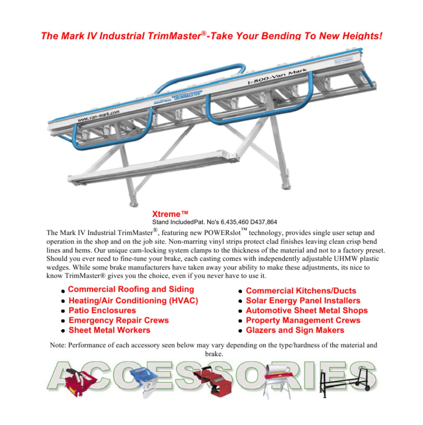 Mark IV TrimMaster Brake Series Info