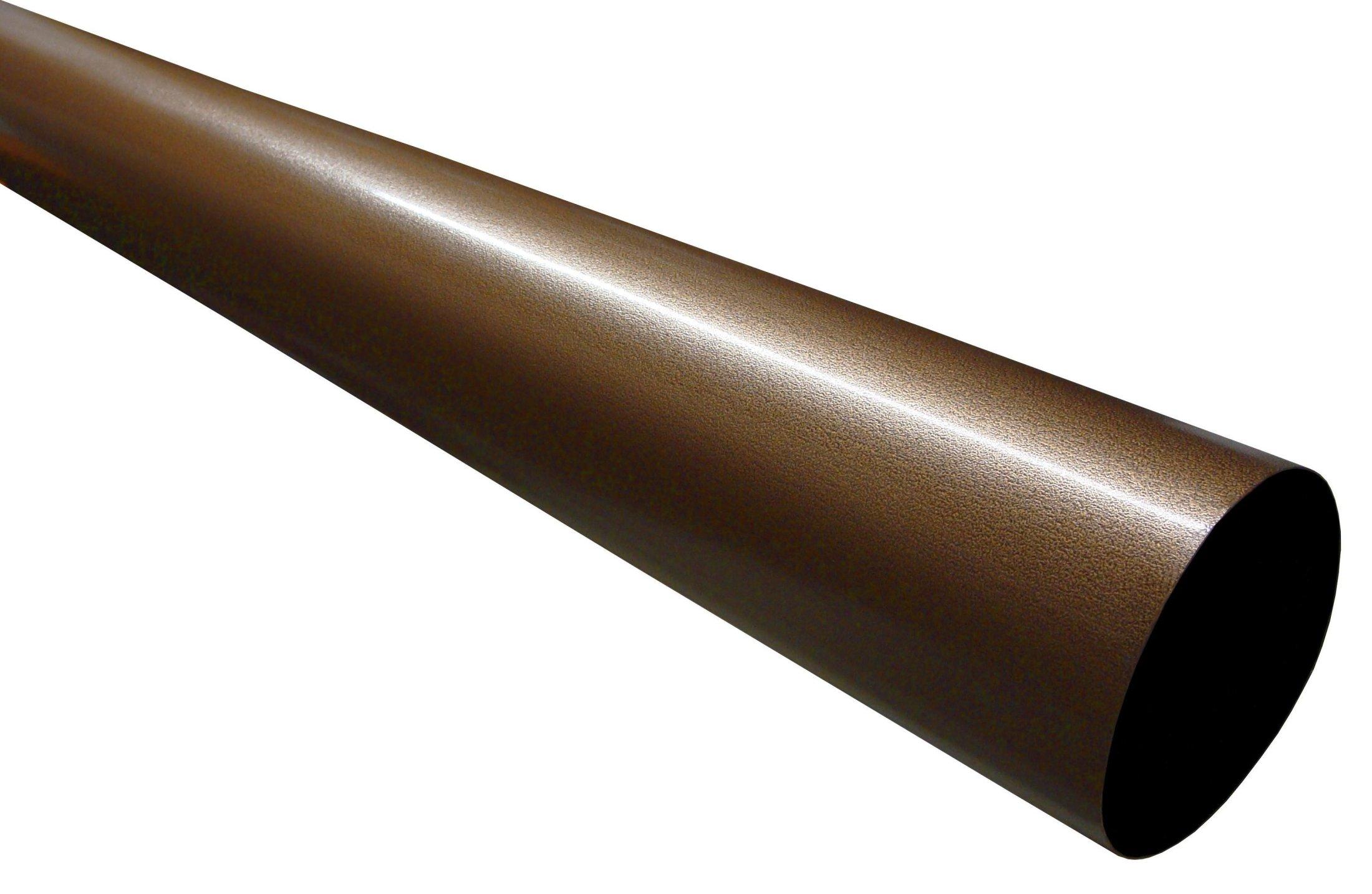 Click For A Larger View Designer Copper Plain Round Downspout