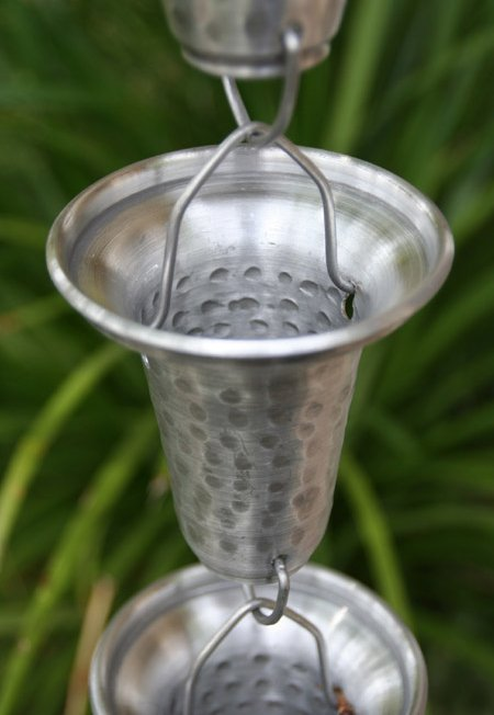 Click For A Larger View Aluminum Flared Cups Rain Chain