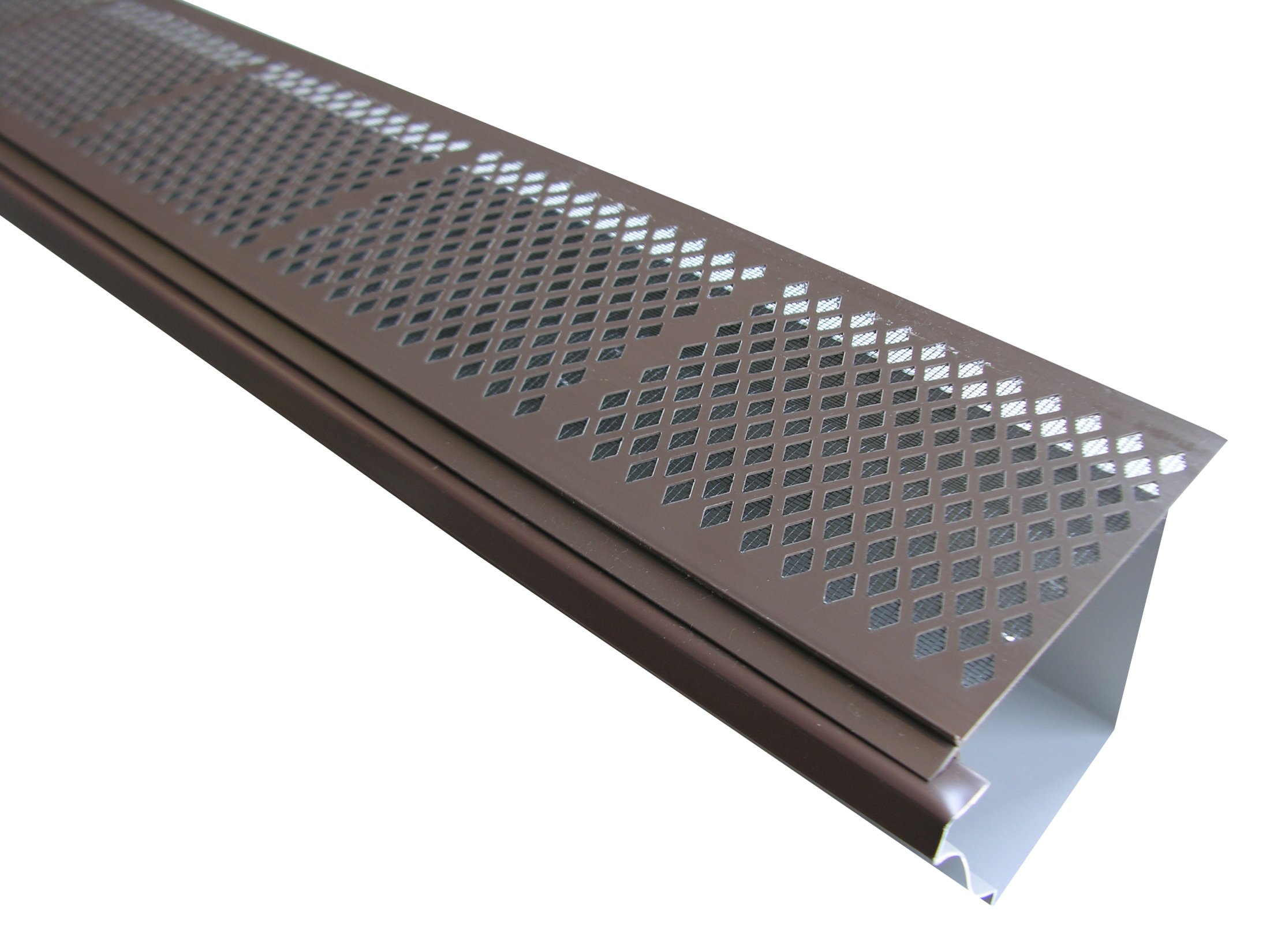 Diamond Pvc W Mesh Gutter Screens Brown Diamond Pvc W Mesh
