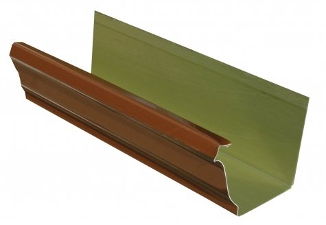 Copper penny aluminum gutters gutter accessories for Painting aluminum gutters