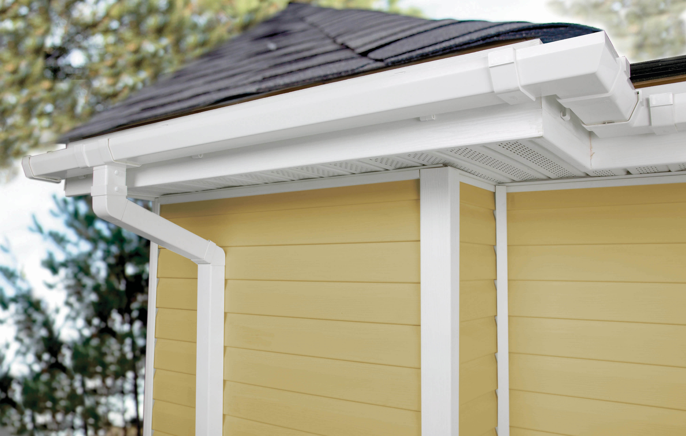Contemporary Vinyl Gutter Systems