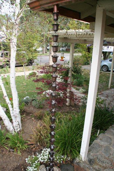 Bronze Flower Cup Rain Chain