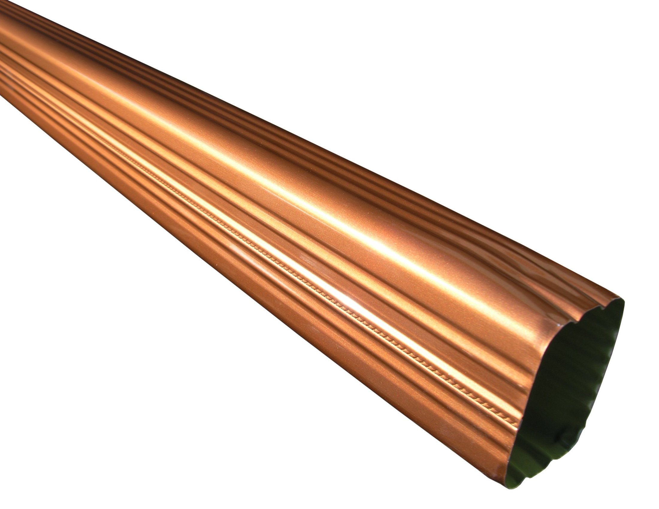 Click For A Larger View Rectangular Copper Penny Downspouts