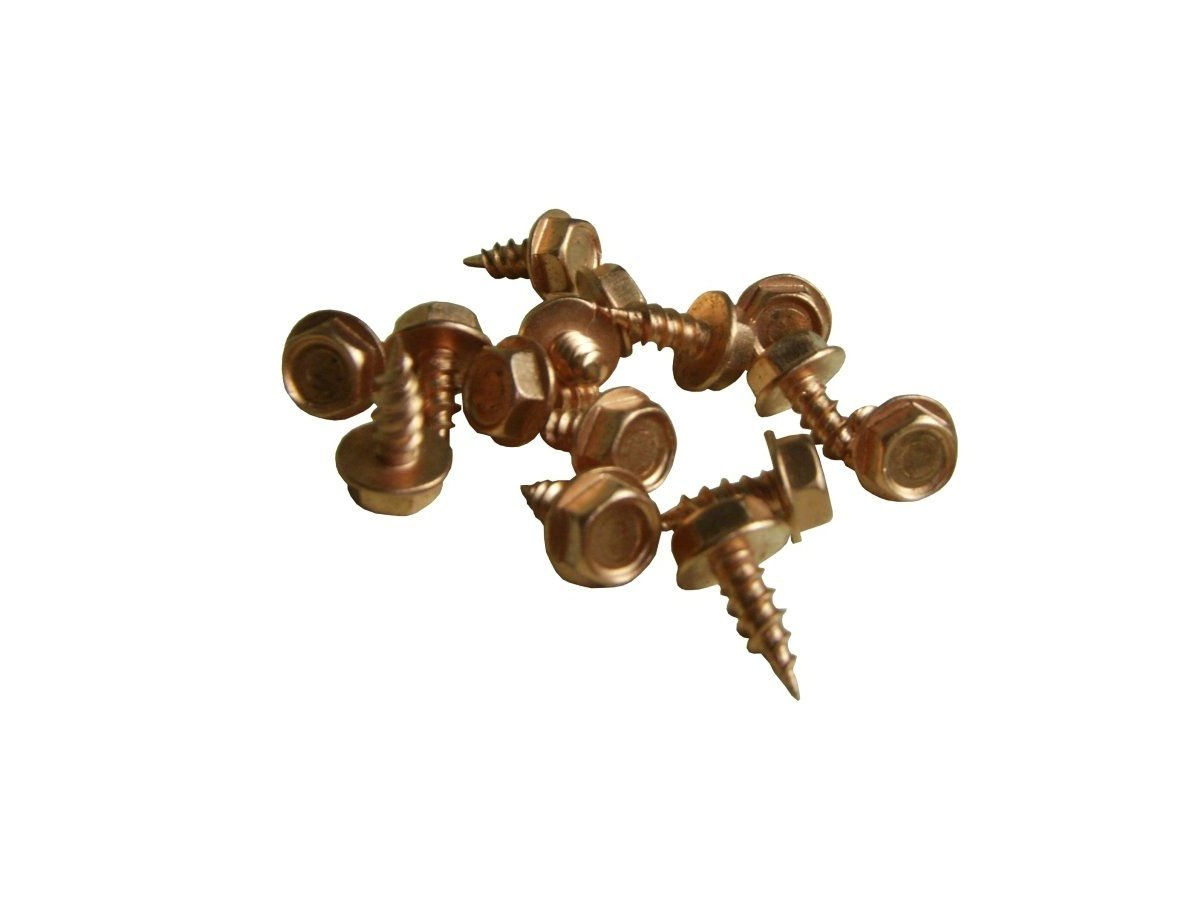 Click For A Larger View Zip Screws Copper Plated Stainless