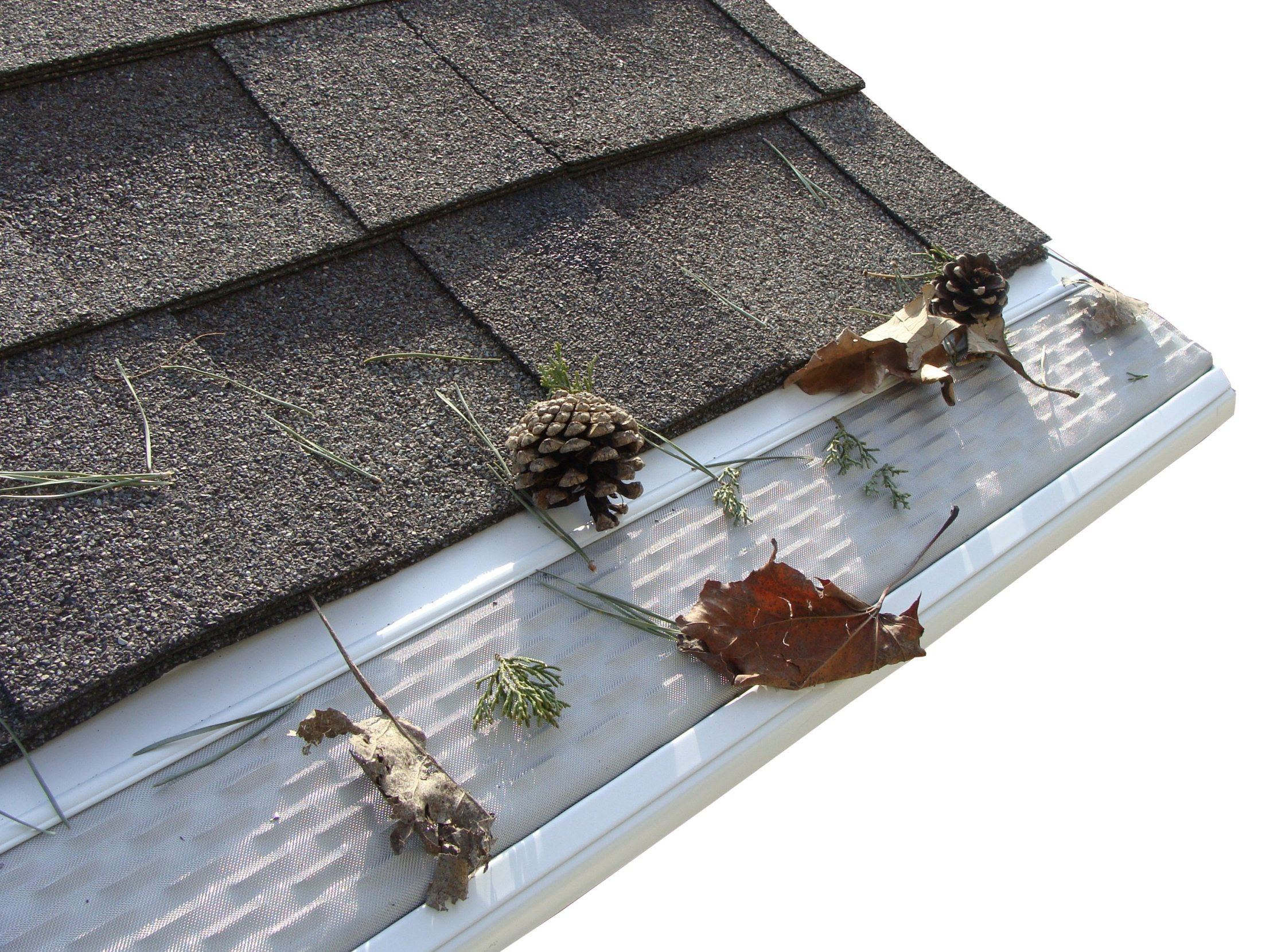 Click For A Larger View Micro Mesh Gutter Guard In Action