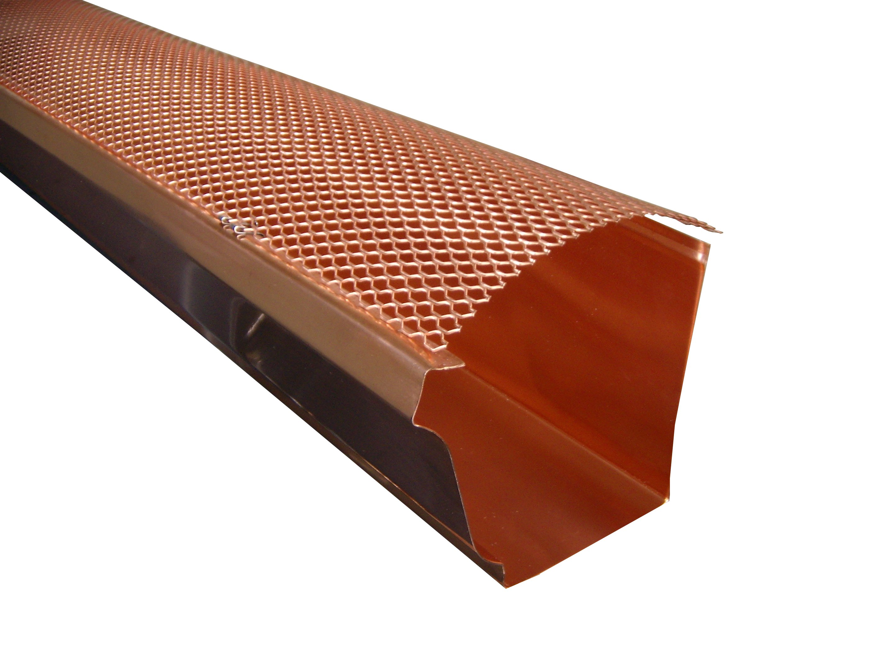 K Style Hinged Screen - Copper, Gutter Cover, Gutter Screens