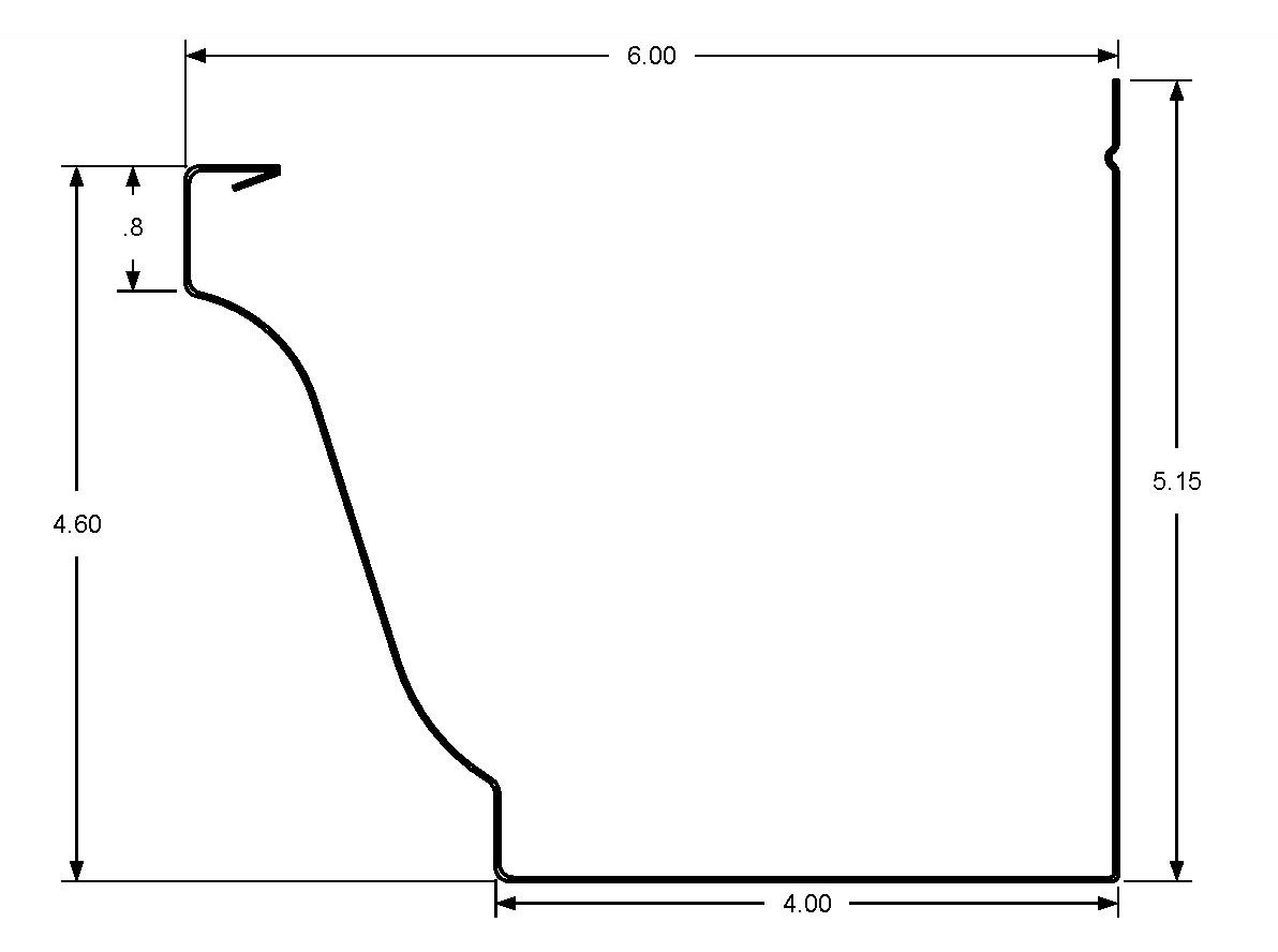 K Style Gutter Dimensions