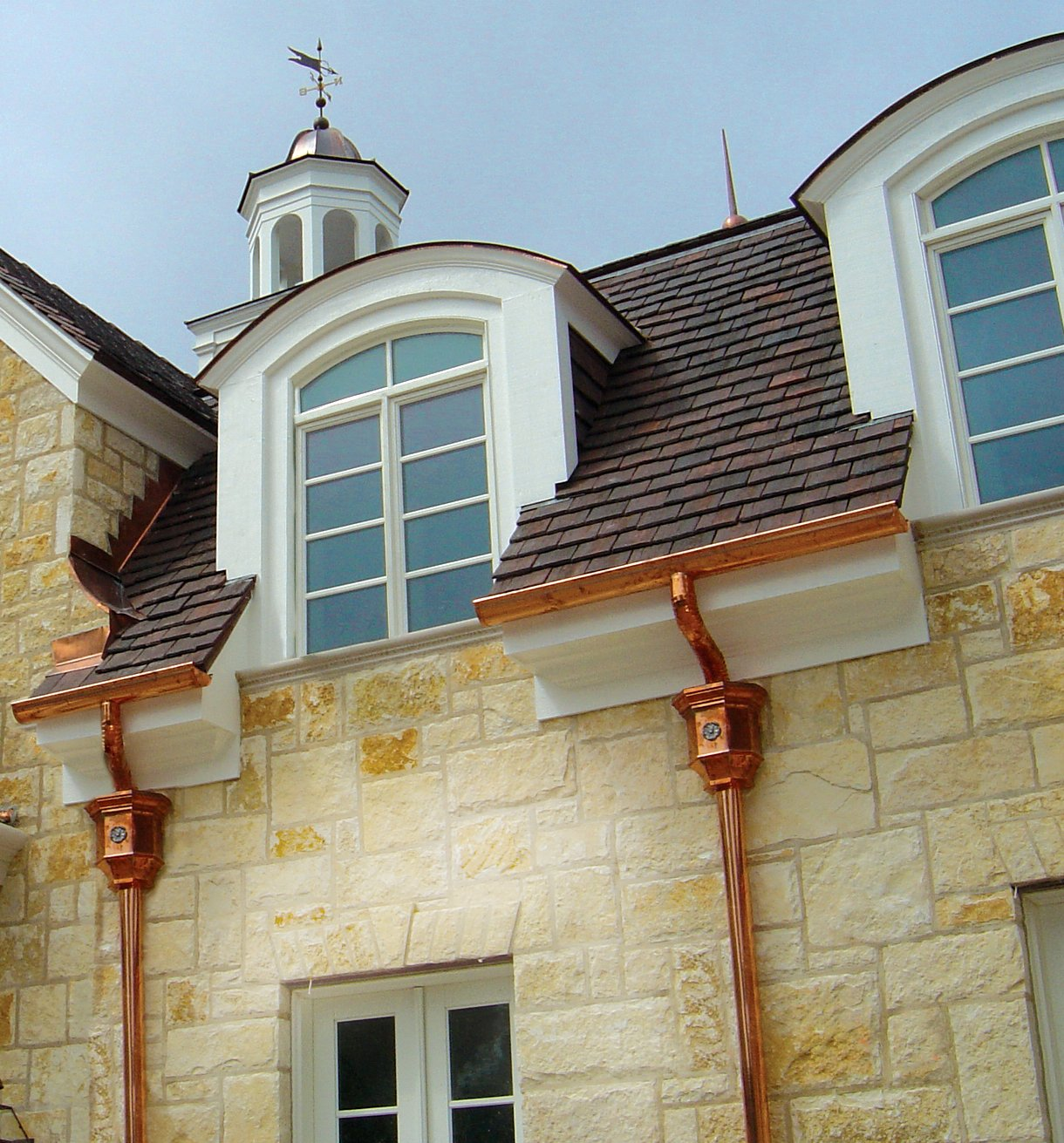 Copper Gutters And Other Copper Gutter Supplies Are Bold