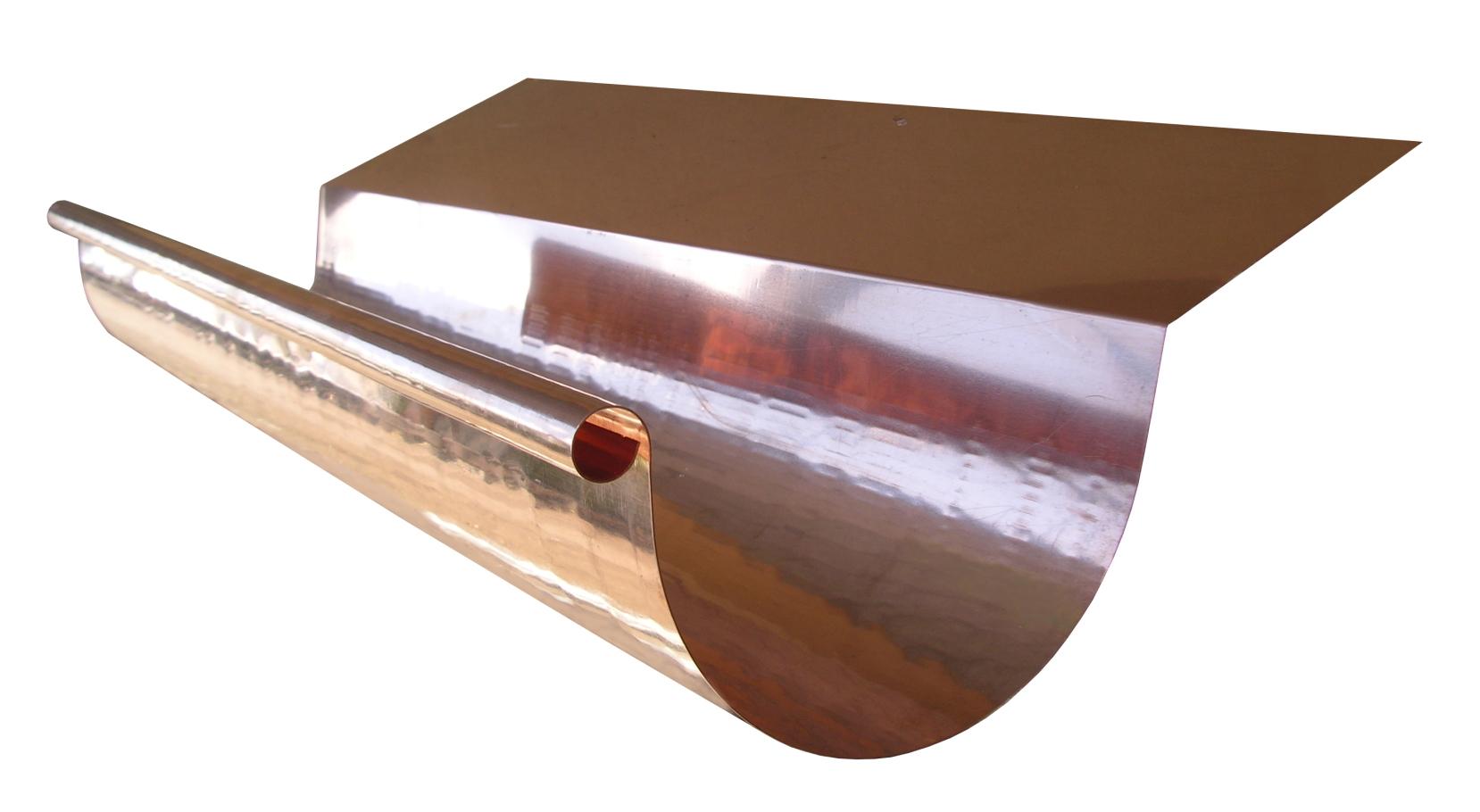 Copper Half Round Highback Gutter Gutter Supply