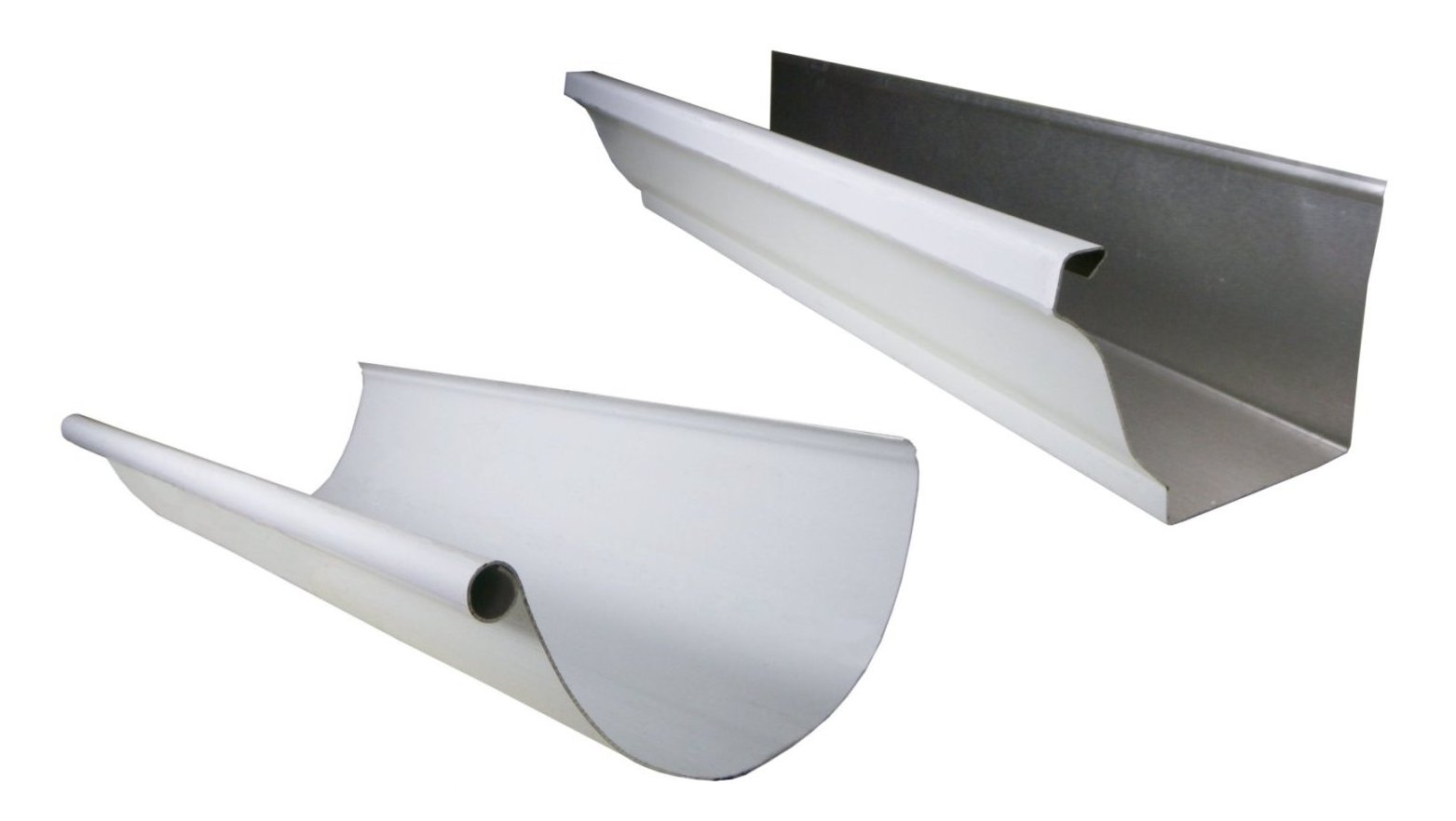Choose From Either K Style Or Half Round Aluminum Gutters