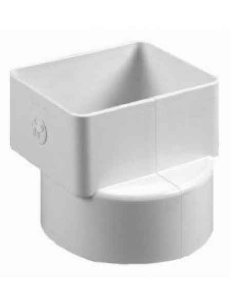 X offset downspout adapter gutter supply