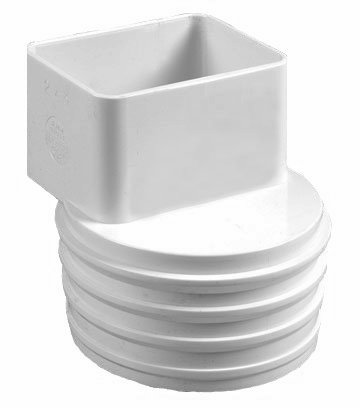 To Connect 2x3 Downspout To 4 Quot Black Flexible Plastic