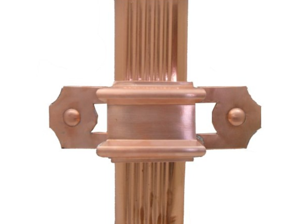 The Brighton Copper Downspout Strap