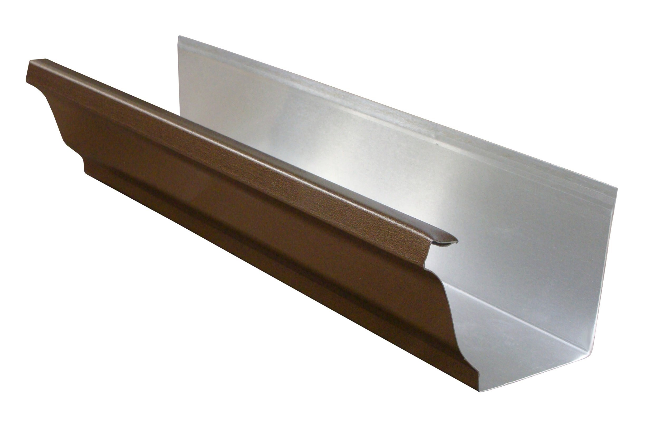 The Amerimax Home Products 10 ft. Aluminum Gutter The Amerimax Home Products 10 ft. Aluminum Gutter features a baked-on black finish to complement your home and durable aluminum construction for long life. Use this gutter to control runoff and help prevent foundation erosion.