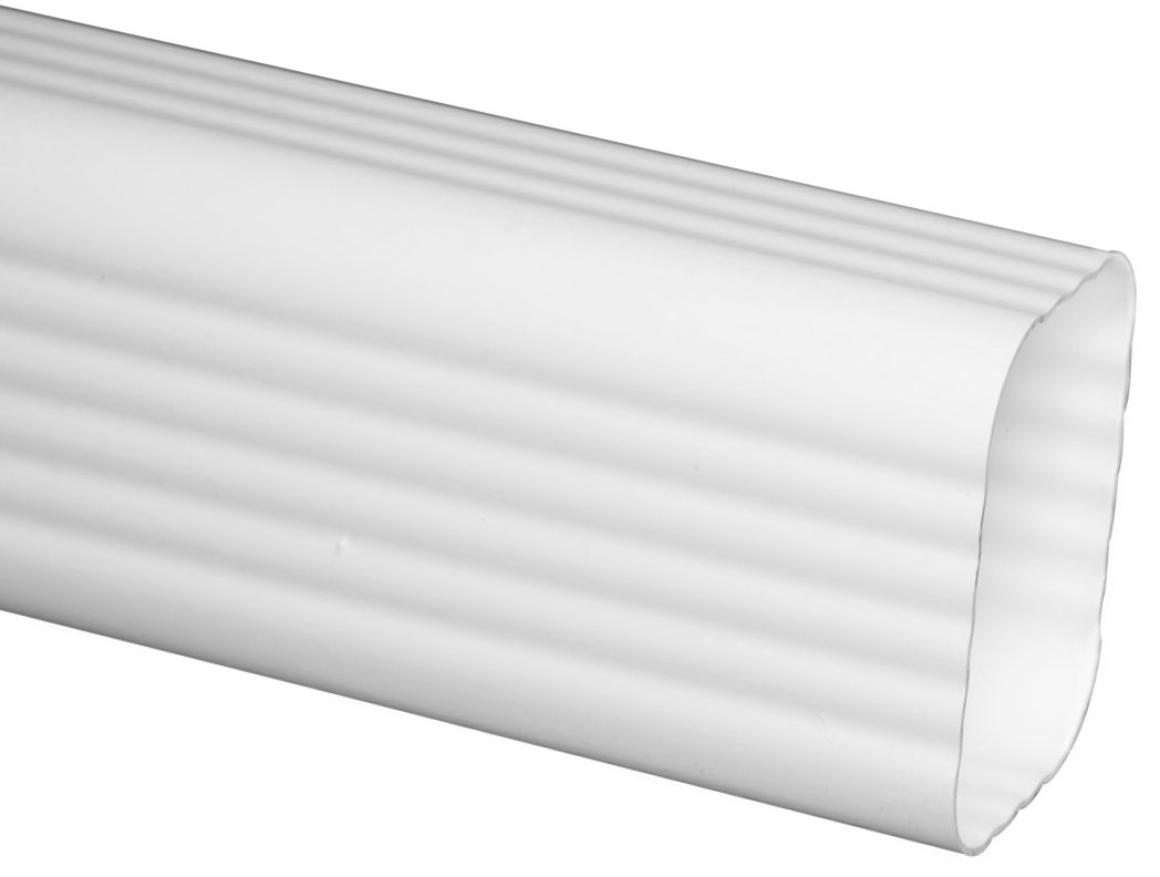 The Traditional Vinyl Rectangular Downspout Is A Pipe For