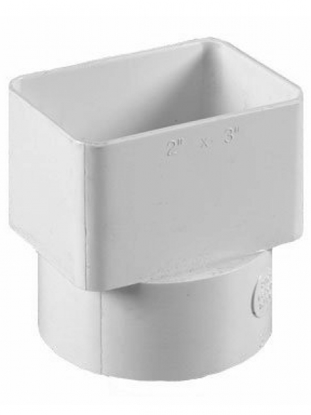 2x3x3 Flush Downspout Adapter