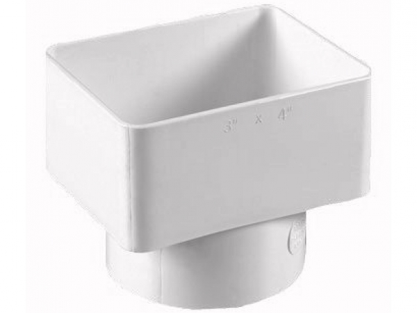 X flush downspout tile adapter gutter supply