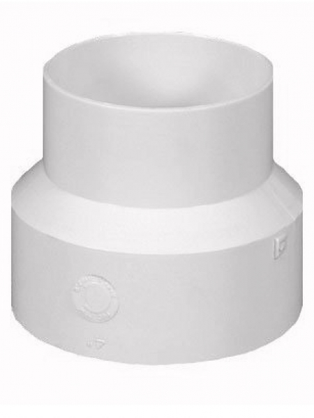 """To connect a 4"""" round downspout into 6"""" pvc pipe."""
