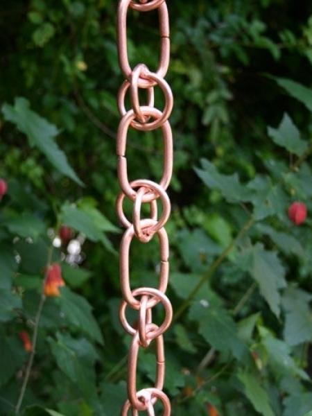 Link & Loops Rain Chain | Copper Rain Chain
