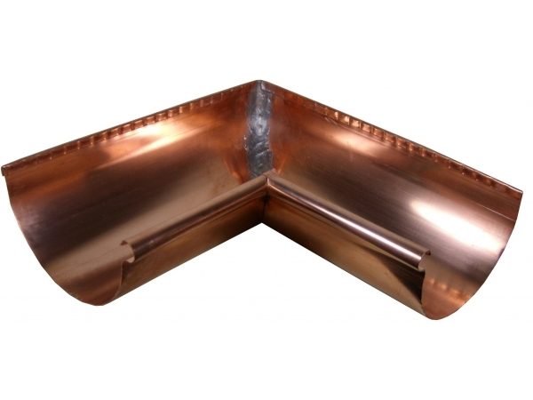 Our Copper Reverse Bead Half Round Miters Are Hand Made