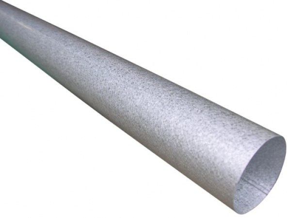 Our Plain Round Galvalume Downspouts Are Smooth And