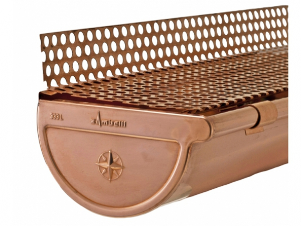 Euro Copper Gutter Guard - Gutter Cover