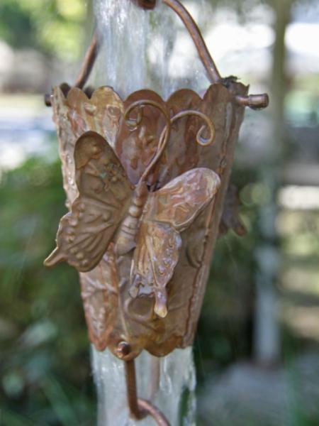 Butterfly Cups Rain Chain