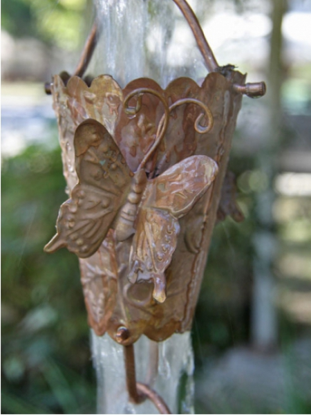 Click For A Larger View Butterfly Cups Rain Chain Copper