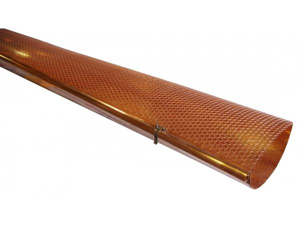 Half Round Hinged Gutter Screen - Copper, Gutter Cover, Gutter Screens